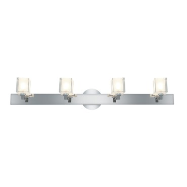 Glase Square Crystal Bathroom Vanity Light by Access | 23918-CH/FCL