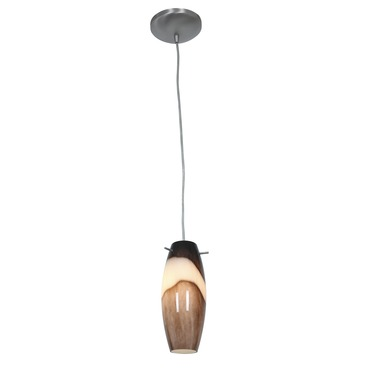 Cabernet Glass Pendant by Access | 28024-1C-BS/BRS