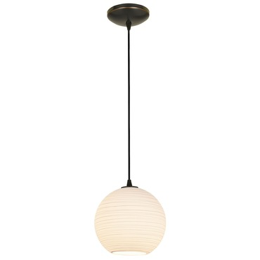 Japanese Lantern Pendant by Access | 28087-1C-ORB/WHTLN