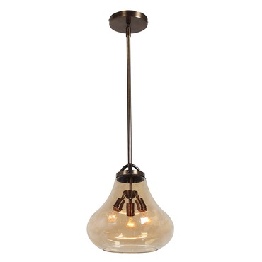 Flux Vintage Lamp Pendant by Access | 55547-DBRZ/AMB