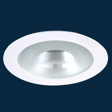 R4-408 4 Inch Round Semi-Frost Lensed Shower Trim