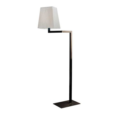 Quadra Liseuse Swing Arm Floor Lamp with Bronze