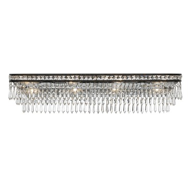Mercer 6 Light Bath Bar by Crystorama | 5265-EB-CL-MWP
