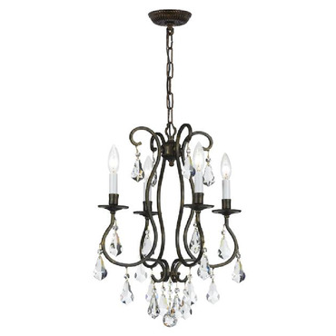Ashton 5014 Mini Chandelier by Crystorama | 5014-EB-CL-MWP