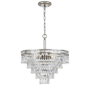 Mercer 6 Light Semi Flush Mount / Chandelier by Crystorama | 5264-OS-CL-MWP