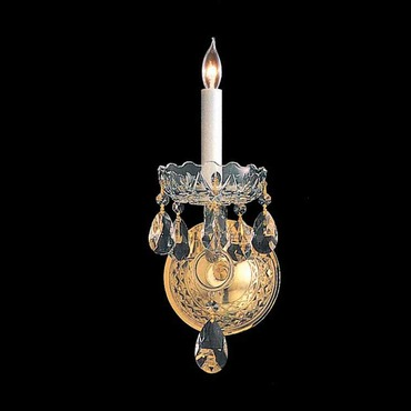 Traditional Crystal 1101 One Light Wall Sconce by Crystorama | 1101-PB-CL-MWP