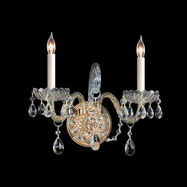 Traditional Crystal 1102 Two Light Wall Sconce