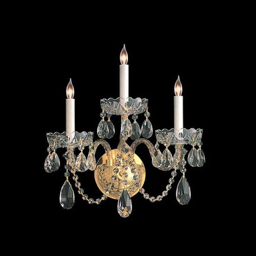 Traditional Crystal 1103 Three Light Wall Sconce