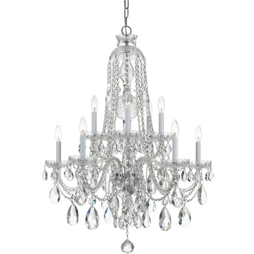 Traditional Crystal 1110 Chandelier by Crystorama | 1110-CH-CL-MWP