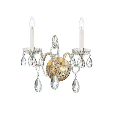 Traditional Crystal 1122 Wall Sconce by Crystorama | 1122-PB-CL-MWP