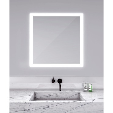Silhouette Square Lighted Mirror