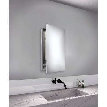Simplicity Small Mirror Cabinet Recessed Right Hinge