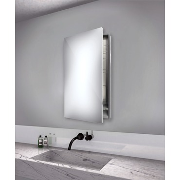 Simplicity Large Mirror Cabinet Recessed Left Hinge