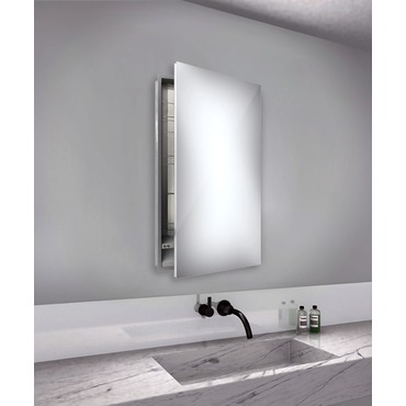 Simplicity Large Mirror Cabinet Recessed Right Hinge