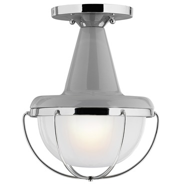 Livingston Outdoor Semi Flush Ceiling Light by Feiss | OL14013HGG/PN