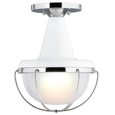 Livingston Semi Flush Ceiling Light by Feiss | FM402HGW/PN