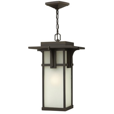 Manhattan Etched Glass Outdoor Pendant by Hinkley Lighting | 2232OZ