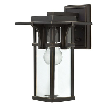 Manhattan Clear Glass Outdoor Wall Light by Hinkley Lighting | 2320OZ
