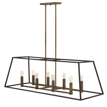 Fulton Double Linear Chandelier by Hinkley Lighting | 3338BZ