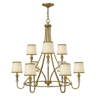 Morgan Two Tier Chandelier by Hinkley Lighting | 4878BR