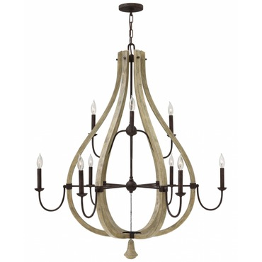 Middlefield 2 Tier Chandelier by Fredrick Ramond | FR40578IRR