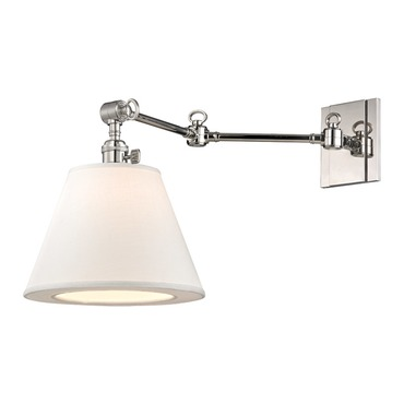Hillsdale Horizontal Swing Arm Wall Sconce by Hudson Valley Lighting | 6233-PN