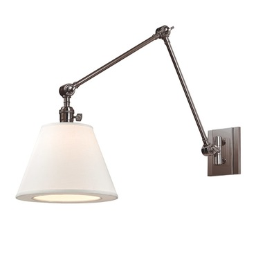 Hillsdale Vertical Swing Arm Wall Sconce by Hudson Valley Lighting | 6234-HN