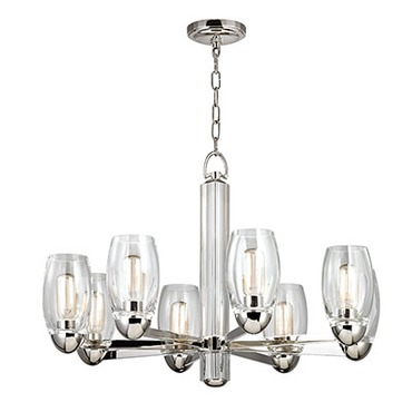 Pamelia Chandelier by Hudson Valley Lighting | 8848-PN