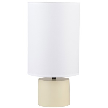 Devo Round Table Lamp by Lights Up | RS-270SO-WHT