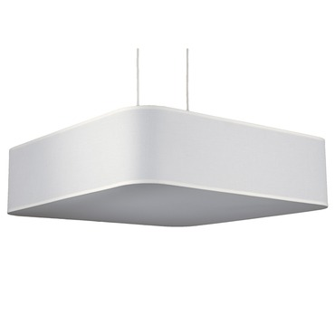 Blip Square Pendant by Lights Up | TS-9431BN-WHT