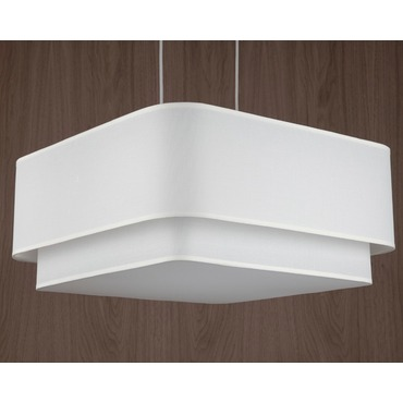 Blip Double Square 24 Pendant by Lights Up | TS-9525BN-WHT