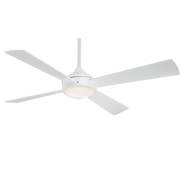 Aluma Ceiling Fan by Minka Aire | F521-WHF