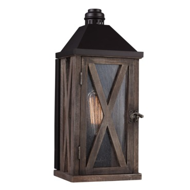 Lumiere Cross Hatch Outdoor Wall Light by Feiss | OL17000DWO/ORB