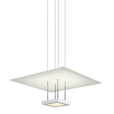 Chromaglo LED Bright White Square Reflector Pendant