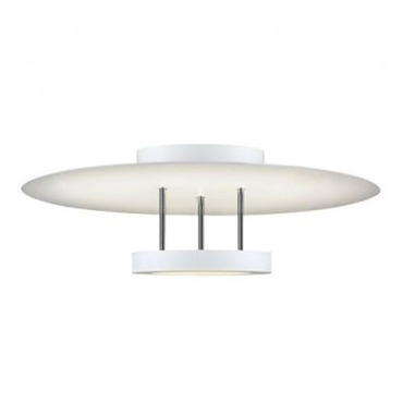 Chromaglo LED Bright White Round Reflector Semi Flush