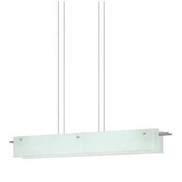 Suspended Glass Slim LED Linear Pendant
