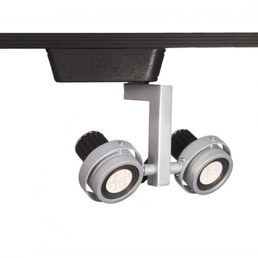 J Series 817 LED Double Droid Track Head by WAC Lighting | JHT-817LED-PT/BK