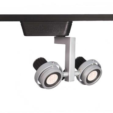 J Series 817 LED Double Droid Track Head by WAC Lighting | JHT-817LED-PT/BK