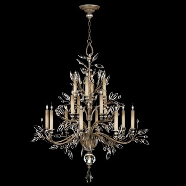 Crystal Laurel Two Tier Chandelier
