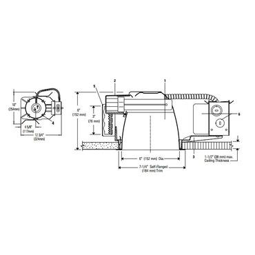 Calculite 6213HU 6 Inch Non-IC Frame-In Kit 120V