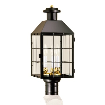American Heritage Outdoor Post Mount by Norwell Lighting | 1056-BL-CL