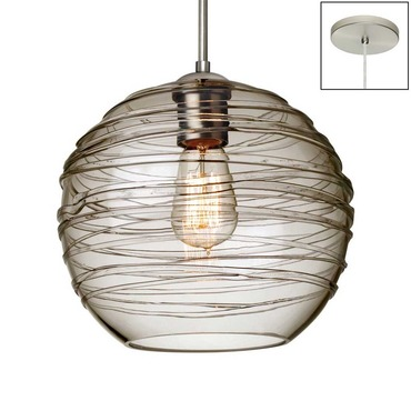 Wave Pendant Edison by Besa Lighting | 1JT-462761-EDI-SN