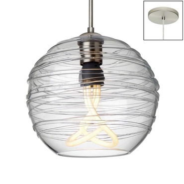 Wave Pendant CFL Plumen by Besa Lighting | 1JT-462761-PLU-SN