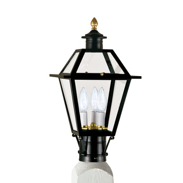 Lexington Outdoor Post Mount by Norwell Lighting | 2234-BL-CL