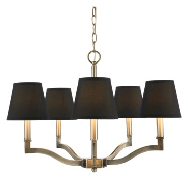 Waverly Chandelier by Golden Lighting | 3500-5 AB-GRM