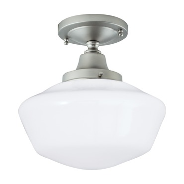 Schoolhouse Semi Flush Mount by Norwell Lighting | 5361F-BN-SO