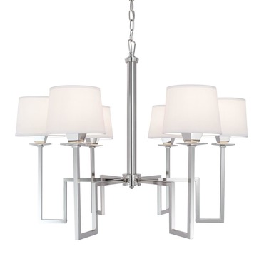 Maya 9676 Chandelier by Norwell Lighting | 9676-PN-WS