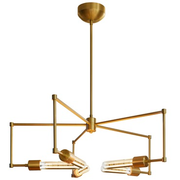 Boomer T9 Chandelier by Stone Lighting | CH555BBRT4SA