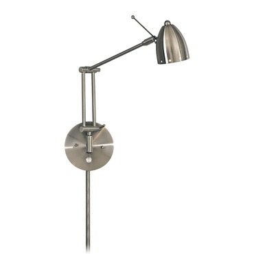 P254 Swing Arm Plug In Wall Sconce by George Kovacs | P254-084