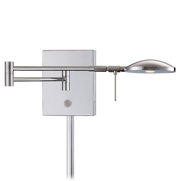 Georges LED Round Head Reading Room Swing Arm Wall Sconce by George Kovacs | P4338-077